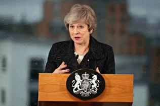 メイ英首相はEUとまとめた離脱協定の修正を求める=AP