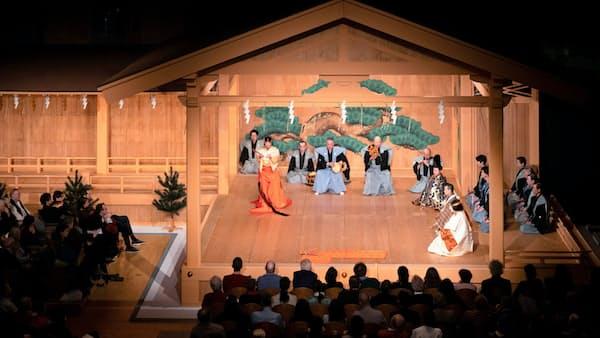 能楽パリ公演が開幕 ジャポニスム2018、本格舞台で至芸