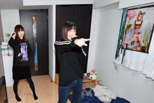 ダンスの練習は1Kの自宅で