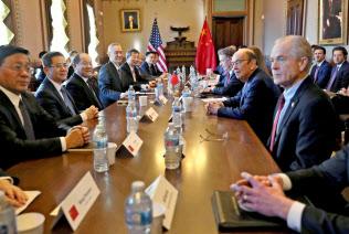 1月30~31日、米中両政府はワシントンで閣僚級の貿易協議を開いた=ロイター