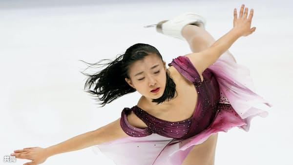 女子SP、坂本2位・紀平5位 四大陸フィギュア