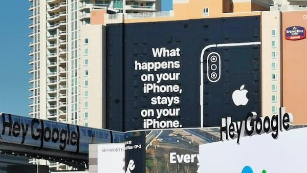 アップルがCES会場の広告に込めた意味