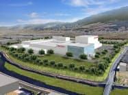 資生堂が2021年に稼働を予定する九州福岡工場(仮称、福岡県久留米市)のイメージ