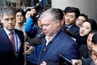 米国のビーガン北朝鮮担当特別代表(3日、ソウル)=ロイター