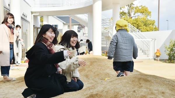 園庭づくり子供目線で 同志社女子大(キャンパス新景)