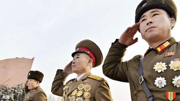 金正恩氏、核に言及せず 軍創建記念日で演説