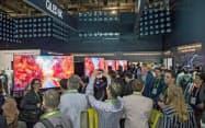 サムスンが米国の家電見本市で展示した8Kテレビ(1月、ラスベガス)