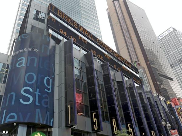 米モルガン・スタンレーはカナダ企業を9億ドルで買収(米ニューヨーク市内の本社)=AP