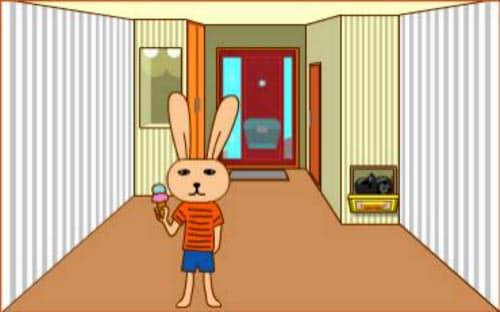 ぱどタウンの初期設定のユーザーの部屋。レベルが上がるとキャラクターを変更できた