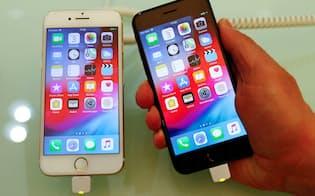 iPhoneの2018年10~12月期売上高は前年同期比15%減少した=ロイター