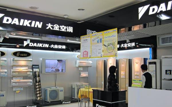ダイキンの中国での空調売り上げは急速に悪化している(中国国内の販売店)