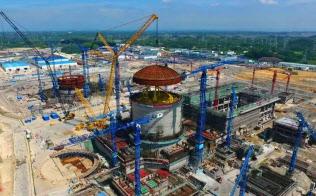 中国広核集団が広西チワン族自治区で建設を進める次世代原発「華竜1号」(中広核のサイトから)