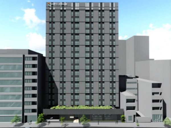 2021年春の開業を予定するホテルの完成イメージ