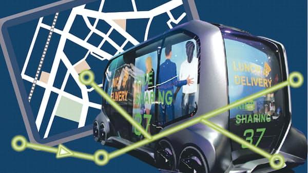 自動車の未来(上) サービス化で街の一機能に