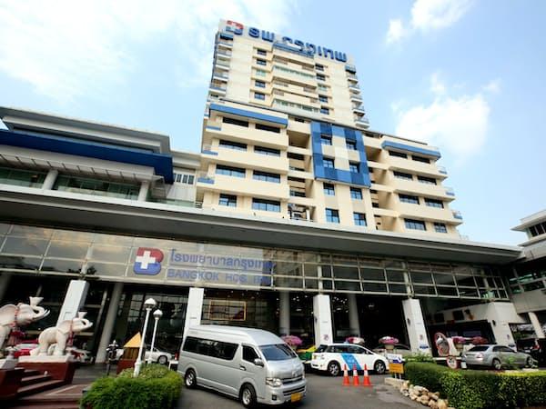 タイのBDMSが運営するバンコク病院(バンコク)=三村幸作撮影