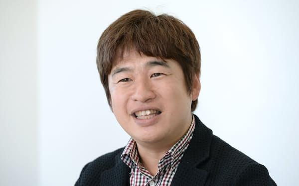 カドカワ 川上社長(2015年12月、東京都中央区)