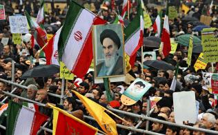 イランは革命から40年を迎えた=AP