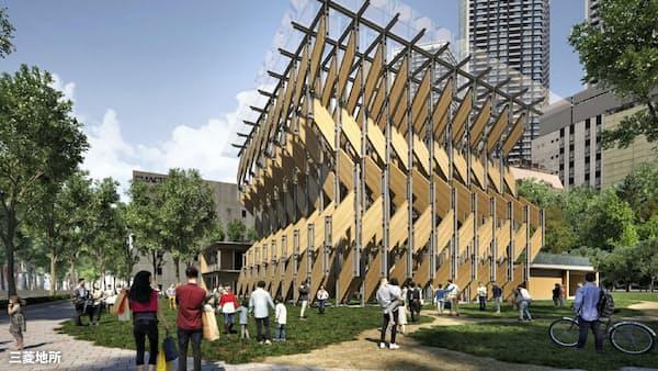 木造建築体験を 三菱地所と隈氏、選手村横に集客施設