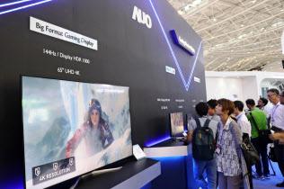 AUOなど台湾勢はゲーム向けの高機能パネルなどニッチ分野に活路を求める(18年8月、台北市内)