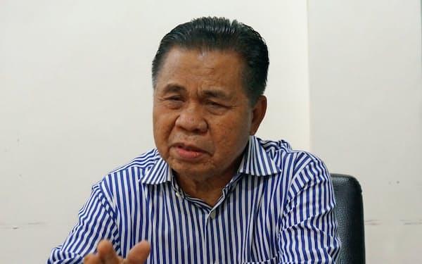 フィリピン南部の暫定自治政府のトップに就任する見通しのモロ・イスラム解放戦線のムラド議長(2018年12月)