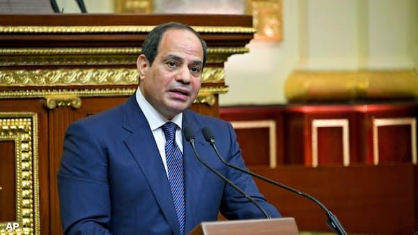エジプト国会、大統領の任期延長を支持 2034年まで