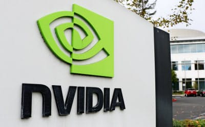 ゲーム用GPUの減速が目立つ(カリフォルニア州サンタクララのエヌビディア社屋)