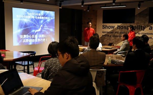 浜野製作所(東京・墨田)はスタートアップと技術力のある町工場を集め匠相談会を開いた(1月、同)