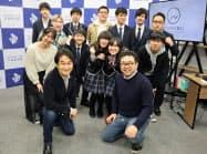 N高起業部の第2期生入部最終審査会に臨んだ高校生と審査員ら(東京・渋谷)