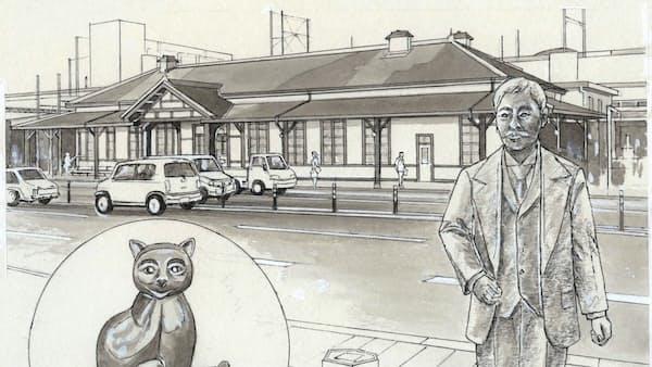 漱石と「猫」がお出迎え 上熊本駅(探検!九州・沖縄)