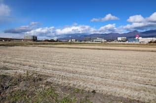 佐久平駅南部の区画整理予定地