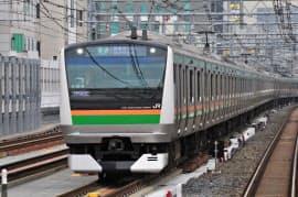 「上野東京ライン」の電車が羽田空港に乗り入れる(JR東日本提供)