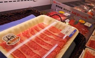 アジア市場でも和牛の人気は高い(台北市内のスーパー)