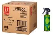 エステーが宿泊施設向けに発売する消臭剤「エアフォレスト 衣類・布製品用消臭ミストつめかえ用10L」。スプレー容器は無償で提供する