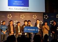 農業用ロボットを開発するinahoが優勝した(19日、福岡市)