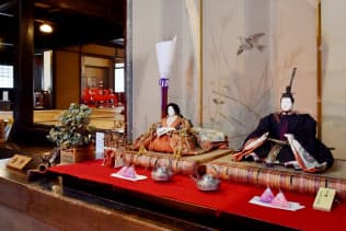 江戸時代の雛飾りなどを展示する旧西川家住宅(滋賀県近江八幡市)