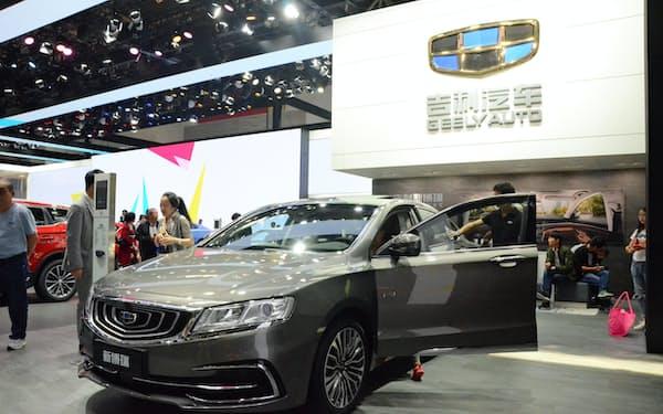 18年の中国新車市場は28年ぶりに前年割れとなったが、吉利は成長が続いた(18年5月、北京国際自動車ショー)