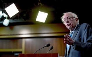 民主党から米大統領選に出馬するバーニー・サンダース上院議員=AP