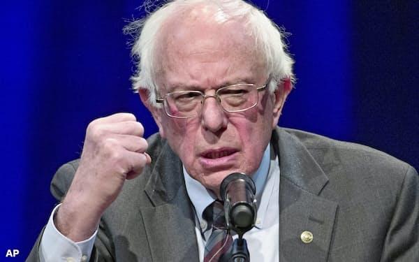 民主党から米大統領選に出馬するサンダース上院議員=AP
