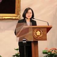 台湾の蔡英文総統(1月、台北市内)