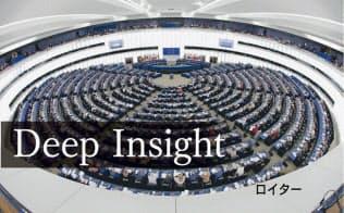 5月の欧州議会選では極右勢力の優勢が伝わる(仏ストラスブールの欧州議会)=ロイター
