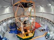 完成した東アジア最大の大型望遠鏡「せいめい」(京都大学提供)