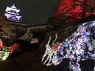 高知城のチームラボによる光のイベントは県外観光客が多く集まった