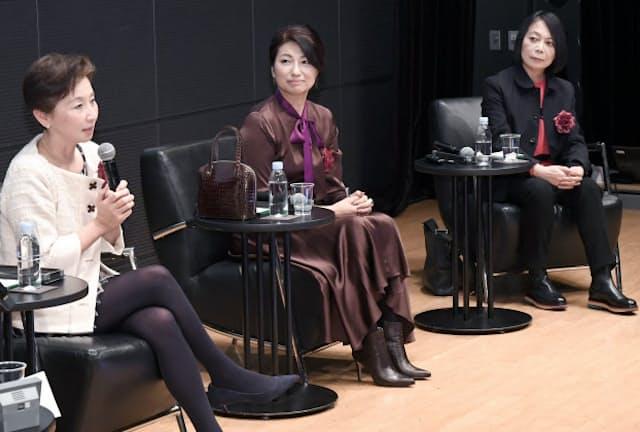 討論する(左から)川和、吉田、イケムラの各氏