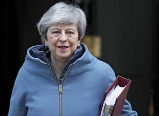 メイ英首相は、ホンダの英生産撤退に失望を表明した=AP
