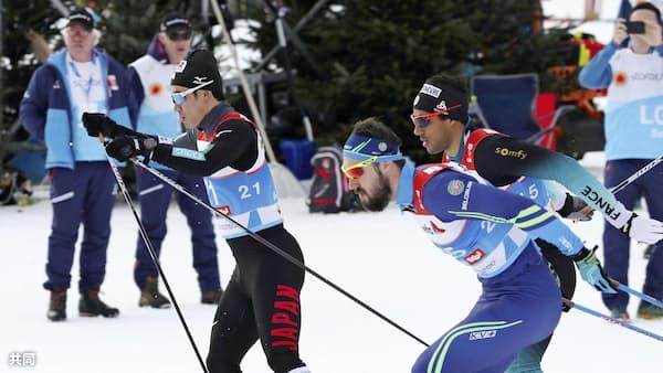 距離スプリント宮沢27位、準々決勝敗退 世界ノルディック