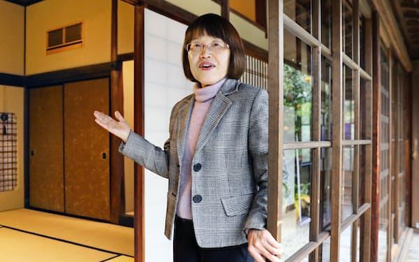 かどや保存会事務局長の広野克子さん(69)