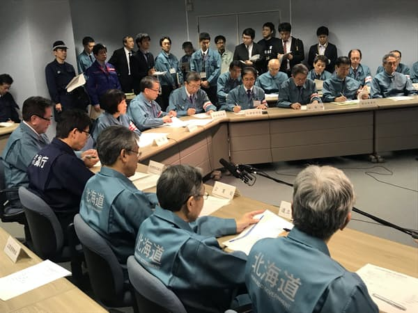 北海道が開いた災害対策本部員会議(札幌市)