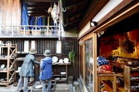 古民家を改装した雑貨店「ハクトヤ」(兵庫県篠山市)