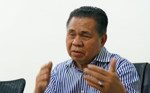 フィリピン南部の暫定自治政府首相に就いたモロ・イスラム解放戦線のムラド議長(2018年12月)