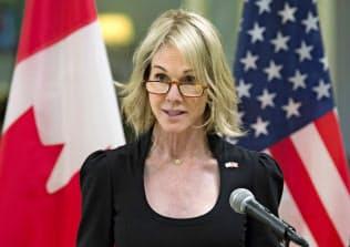 米国のケリー・クラフト駐カナダ大使はトランプ大統領に近いことで知られる=AP